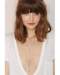 Nasty Gal - Metallic To The Point Lariat Necklace - Lyst