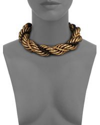 Lanvin - Metallic Twisted Rope Necklace - Lyst