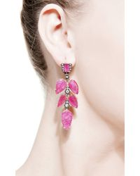 Sylva & Cie - Red One Of A Kind Old European Cut Earrings - Lyst