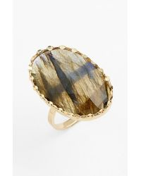 Lana Jewelry | Yellow 'ultra' Small Labradorite Ring | Lyst