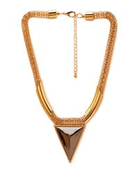Forever 21 - Metallic Futuristic Statement Necklace - Lyst