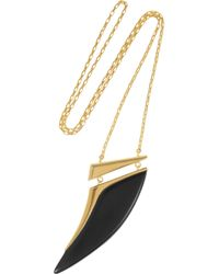 Maiyet - Black Goldplated Horn Necklace - Lyst
