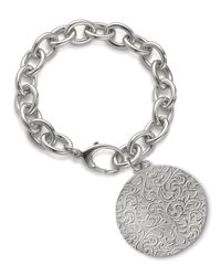 Monica Rich Kosann | Metallic Round Charm Photo Sterling Silver Bracelet | Lyst