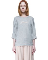 Chloé - Gray Top - Lyst