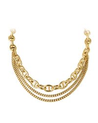 Dyrberg/Kern | Metallic Gallop Triple Chain Necklace | Lyst