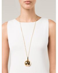 Chloé - Metallic 'Ellie' Necklace - Lyst