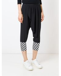 Unconditional - Black Striped Hem Harem Trousers - Lyst