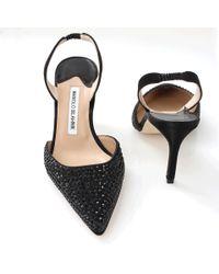 Manolo Blahnik - Black Carolyne Slingback Heels - Lyst