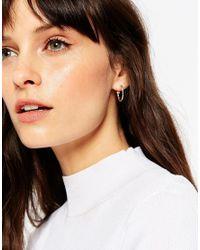 ASOS - Metallic 20mm Etched Hoop Earrings - Lyst
