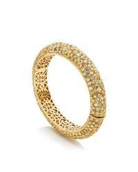 Nina Runsdorf - Metallic One Of A Kind 18k Yellow Gold Diamond Bangle - Lyst