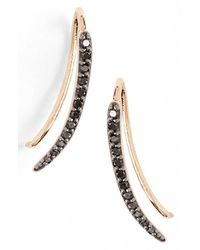 Kismet by Milka - Black 'lumiere' Diamond Ear Crawlers - Lyst