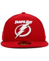 KTZ | Red Tampa Bay Lightning C-dub 59fifty Cap for Men | Lyst