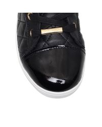 DKNY | Black Betty Flat Lace Up Trainer Boots | Lyst