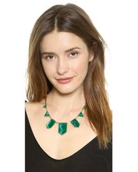 House of Harlow 1960 - Classic Station Necklace - Green/Gold - Lyst