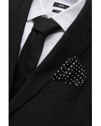 BOSS - Gray 'pocket Square 33 X 33'   Silk Patterned Pocket Square for Men - Lyst