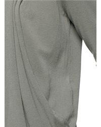Armani - Gray Drape Open Front Cardigan - Lyst