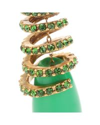 Oscar de la Renta - Green Coral Spiral Earrings - Lyst