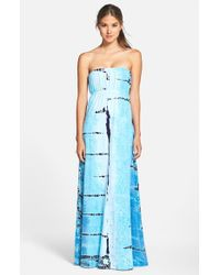 Hard Tail - Blue Long Strapless Dress - Lyst