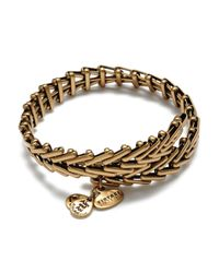 ALEX AND ANI - Metallic Vintage 66 Gypsy Wrap Bangle - Lyst
