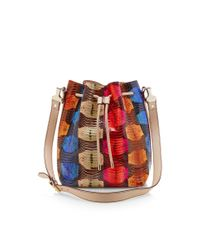 Proenza Schouler - Blue Large Printed Snakeskin Bucket Bag - Lyst