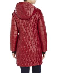 Kenneth Cole - Red Lightweight Hooded Down Jacket - Lyst