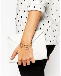 ASOS | Metallic Pack Of 2 Fine Open Cuff Bracelet | Lyst