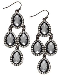 INC International Concepts - Brown Chocolate-tone Teardrop Chandelier Earrings - Lyst