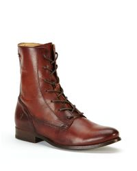 Frye | Brown Melissa Lace-up Ankle Boots | Lyst
