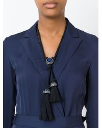 Lanvin - Blue Tassel Necklace - Lyst