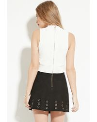Forever 21 - White Endless Rose Side-cutout Crop Top - Lyst