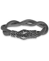 Platadepalo | Gray Animalia Silver Mesh Crocodile Bracelet | Lyst