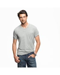 J.Crew | Natural Slim Broken-in V-neck T-shirt for Men | Lyst