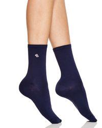 Ralph Lauren - Blue Microfiber Trouser Socks - Lyst