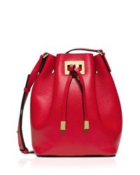 Michael Kors - Red Crossbody - Miranda Medium Drawstring Messenger - Lyst
