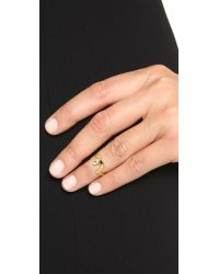 Lady Grey - Metallic Cleft Midi Ring - Gold - Lyst