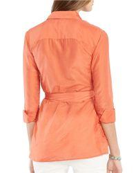 Lauren by Ralph Lauren | Orange Cotton-silk Tunic | Lyst