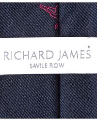 Richard James - Blue Navy Tribal Lama Tie for Men - Lyst