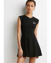 Forever 21 - Black Love Fit & Flare Dress - Lyst