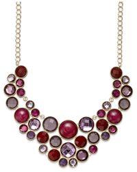 INC International Concepts - Gold-tone Purple Multi-circle Bib Necklace - Lyst