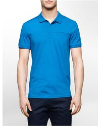 Calvin Klein | Blue White Label Ck One Color Tipped Cotton Polo Shirt for Men | Lyst