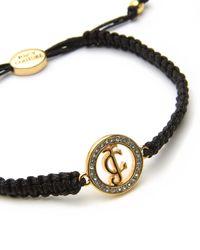 Juicy Couture | Black Pave Jc Macrame Friendship Bracelet | Lyst