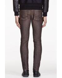 DIESEL - Brown Washed Slim Jeans for Men - Lyst
