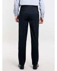 TOPMAN - Blue Navy Slim Fit Suit Trousers for Men - Lyst