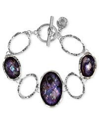 Jones New York | Purple Silver-Tone Tanzanite Stone Toggle Bracelet | Lyst