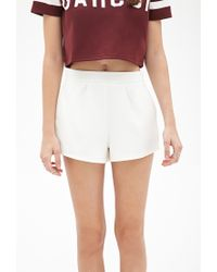 Forever 21 - Natural Pleated Woven Shorts - Lyst