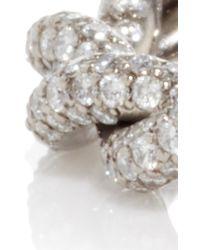 Gioia - Metallic 18k Blackened Gold Intertwined Love Rings With Diamonds - Lyst