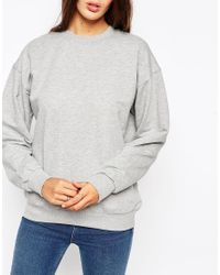 ASOS - Gray The Ultimate Boyfriend Sweatshirt - Lyst