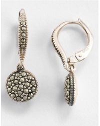 Judith Jack | Metallic Silver-tone Marcasite And Crystal Large Stud Earrings | Lyst