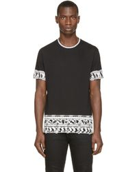 Versus | Black Printed Border T-shirt for Men | Lyst