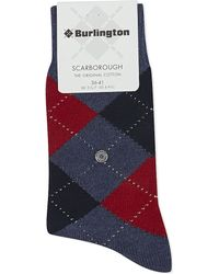 Falke | Red Scarborough Cotton-blend Socks | Lyst